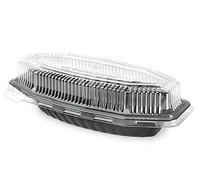 Fineline Settings Flairware 9215-L Clear Serving Boat PET Lid