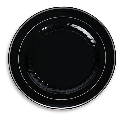 Fineline Settings Silver Splendor 510-BKS Dinner Plate