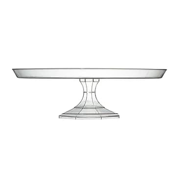 Fineline Settings Platter Pleasers 3602 Cake Stand, Clear