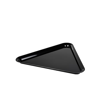 Fineline Settings Platter Pleasers 3561 Triangle Tray, Black