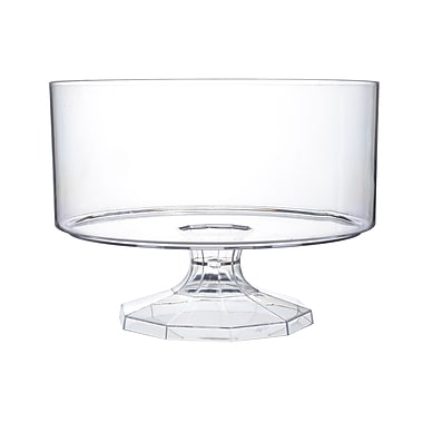 Fineline Settings Platter Pleasers 3531 Clear Trifle Bowl
