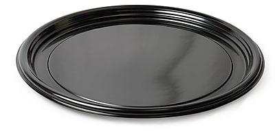 Fineline Settings Platter Pleasers 7210TF Black Vintage Round Tray