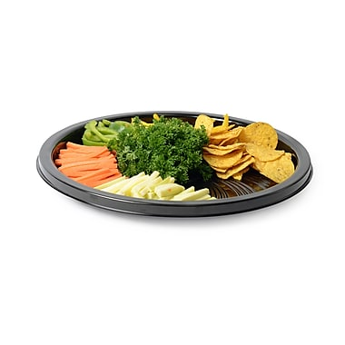 Fineline Settings Platter Pleasers 8610TF Black Majestic Round Tray