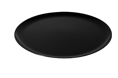 Fineline Settings Platter Pleasers 8401 Classic Round Tray, Black