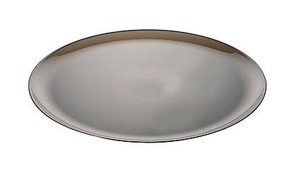 Fineline Settings Platter Pleasers 8801 Classic Round Tray, Smoke