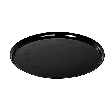 Fineline Settings Platter Pleasers 7801 Supreme Round Tray, Black