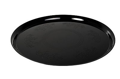 Fineline Settings Platter Pleasers 7601 Supreme Round Tray, Black