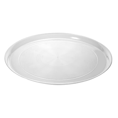 Fineline Settings Platter Pleasers 7801 Supreme Round Tray, Clear