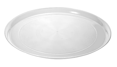 Fineline Settings Platter Pleasers 7401 Supreme Round Tray, Clear