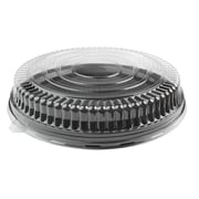 Fineline Settings Platter Pleasers 9201-LL Clear Low Dome PET Lid
