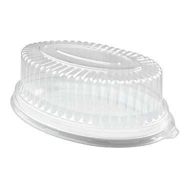 Fineline Settings Platter Pleasers 9511-L Clear Oval Dome PET Lid