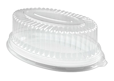 Fineline Settings Platter Pleasers 9514-L Clear Oval Dome PET Lid