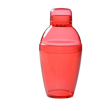 Fineline Settings Quenchers 4101 Neon Cocktail Shaker, Red