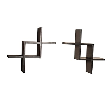 Danya B Reversed Criss Cross Shelves