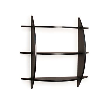 Danya B FF6015B Three Tier Half Moon Shelf Unit in Black