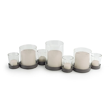 Danya B KF272 Bubbles Multiple Candle Holder for 7 Candles, Brown