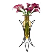 Danya B Amphora Vase on Half Moon Metal Stand