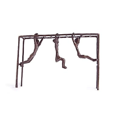 Danya B ZD10022 Children on Monkey Bar Bronze Sculpture