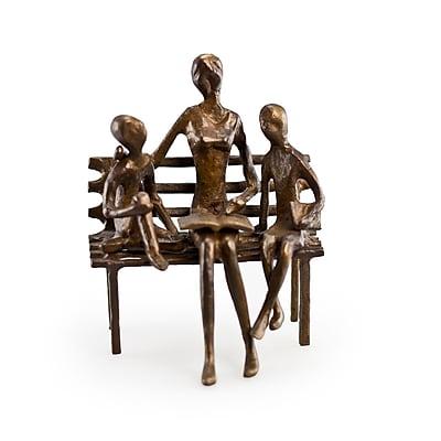 Danya B ZD10034 Mother Reading to Children Bronze Sculpture