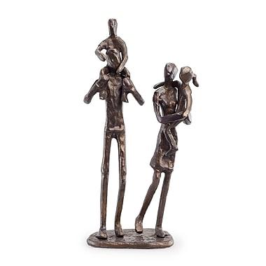 Danya B ZD12060 Parents Carrying Children Bronze Sculpture