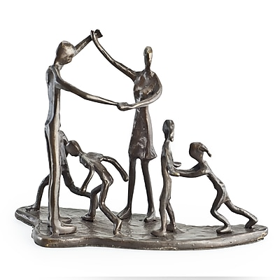 Danya B ZD13017 Children & Parents at Play Bronze Sculpture