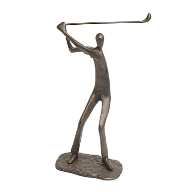 Danya B ZD483 Male Golfer Cast Bronze Sculpture
