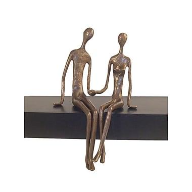 Danya B ZD6349 Sitting Couple Cast Bronze Sculpture