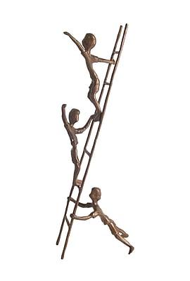 Danya B ZD6720 Children on A Ladder Cast Bronze Sculpture