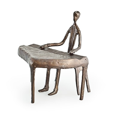 Danya B Piano Player Cast Bronze 3 Sculpture (ZD805S)