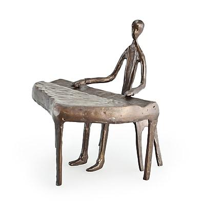 Danya B ZD805S Piano Player Cast Bronze 3 Sculpture