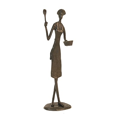 Danya B ZD9706 Female Chef with Pan Sculpture