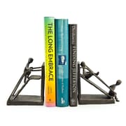 Danya B ZI12136 Children on a Slide Iron Bookend Set, Brown/Gold