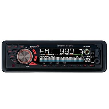 Supersonic® SC-1967UM MP3/CD Receiver With Detachable Radio Panel