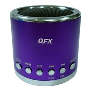 QFX® CS-59US Portable Multimedia Speaker With Micro SD, Purple