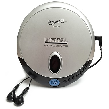 Supersonic® SC-251 Personal CD Player, Black