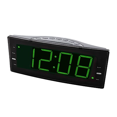 Naxa 93586503M Digital Dual Alarm Clock Radio with USB Charge Port, Black
