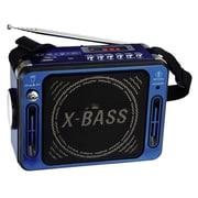 QFX® CS-151 Karaoke Multimedia Speaker With FM Radio, Blue
