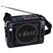 QFX® CS-151 Karaoke Multimedia Speaker With FM Radio, Black