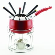 Rachael Ray® Stainless Steel II 2 qt Fondue Set, Red