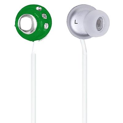 QFX® H-53 Lightweight Stereo Earbuds, Green