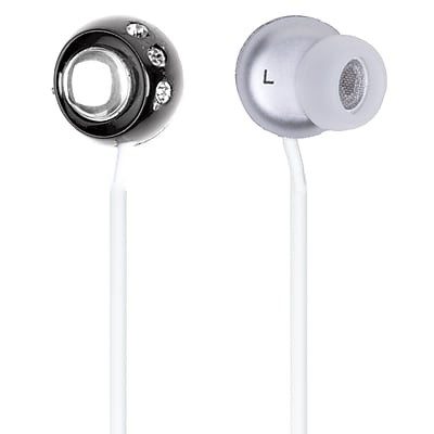 QFX® H-53 Lightweight Stereo Earbuds, Black
