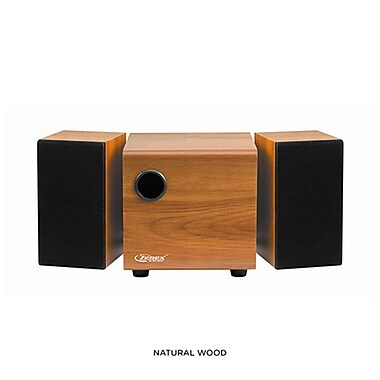 Zenex® 93587220M 2.1 Channel USB Power Speaker System, Wood
