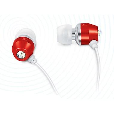 Zenex® Ultimate Metal Solitaire Stereo Earphones, Red
