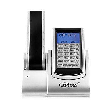 Zenex ZN-TP5588 Single Line Cordless Digital Organizer Office Telephone, Silver