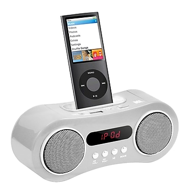 Zenex® 93587463M Docking and Charging Speaker With Radio/Clock