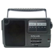 Craig® CR4181 Portable AM/FM Radio With Weather Band and Headphone Jack