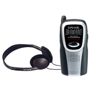 Craig® CS2500 AM/FM Pocket Radio With Speaker and Headphones