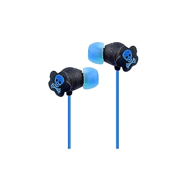 QFX® Lightweight Stereo Earbuds, Blue
