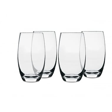 Isaac Mizrahi Western Isle 26 oz. 4 Piece Glass Tumbler Set