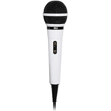 QFX® Dynamic Professional Microphone, White